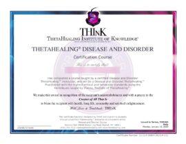 Disordini e Malattie Certificato