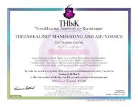 Manifestazione Abbondanza Certificato