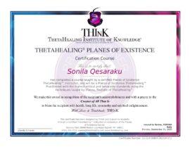 Piani di Esistenza Certificato